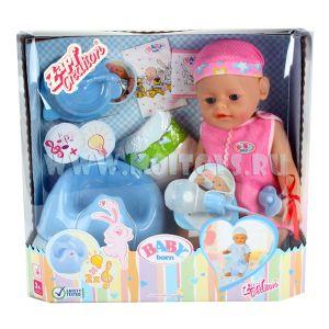 HWA825458 Пупс `Baby Born` (роз.голуб.)