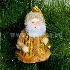 96292/2 Дед Мороз зол. в пакете 10см