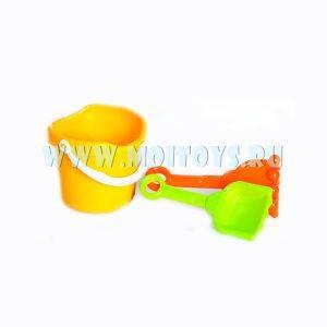 QD94621 Песочный набор в ведерке(3 пред.)