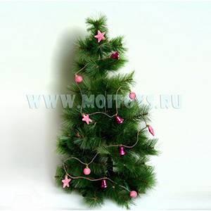 4-00203P Гирлянда в колбе розовая 200 см