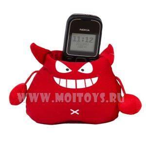 BYJ-17  Антистресс Подставка под телефон `Черт` красн..