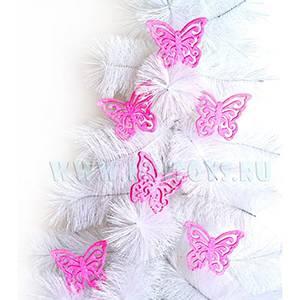 34727R Бабочки розовые 6 шт. в кор.