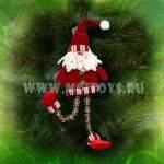 LF67R Дед Мороз-подвеска 30см(пакет) красный