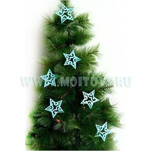 34723B Звезды бирюзовые 6 шт. в кор.