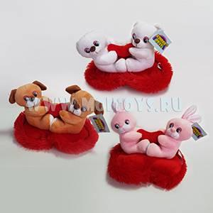 6731 Собачки, мишки, зайчики на сердечке 18см.