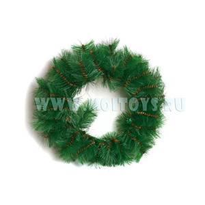 030 Венок 50 cm `Classic` зеленый
