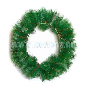 030 Венок 60 cm `Classic` зеленый