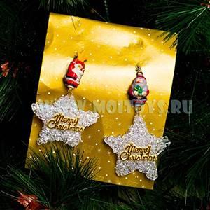 LF30 Подвеска `Merry Christmas` 2шт./планшет 10см.
