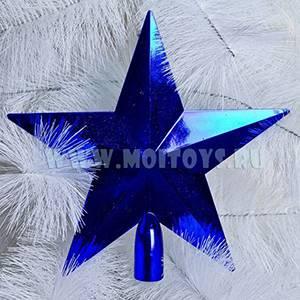 LF01B Верхушка `Звезда` синяя (пакет) 20см.
