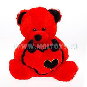 110303 Мишка `Heart breaker` красный 30см.