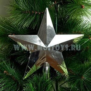 LF01S Верхушка `Звезда` серебр. (пакет)