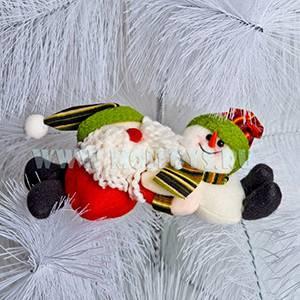 21-X0411A Дед Мороз и снеговик кр. в пакете 20 см