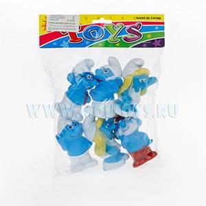 G17646/2011B `Смурфики` резин. 6 шт./пакет