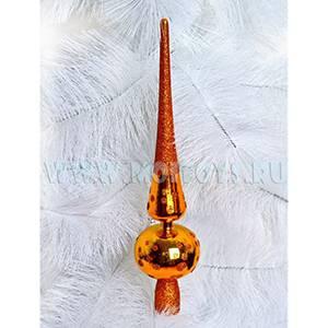 16-011-116A Верхушка на елку `Сосулька` золотая 28см.