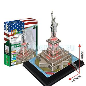 L102 3D пазл `Статуя Свободы` с подсветкой