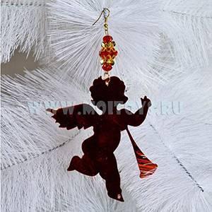 LF46R Повеска (ангел/лошадка/елка) красные