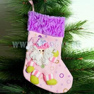 KW037 Новогодние носки роз./сирен.