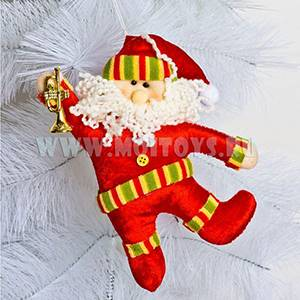 911376/2/911232/1 Санта Клаус с колокольчиком 23см.