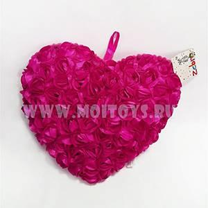 26569P Подушка `Сердце розовое` 30см