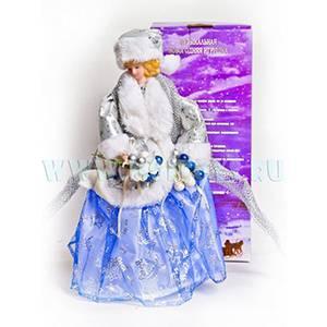03005C Снегурочка в голубом 14` 35см