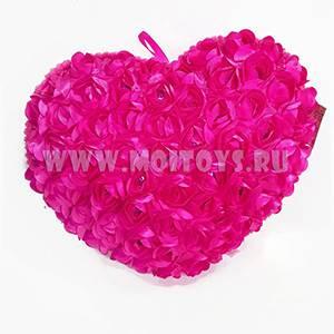 26569P Подушка `Сердце розовое` 40см