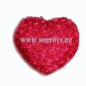 26569R Подушка `Сердце красное` 40см