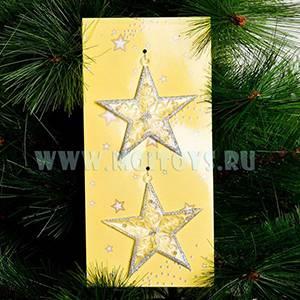 LF34 Подвеска хрустальная `Звезда` 2шт./планшет 8см.