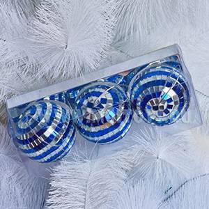 1280B (3/S) Шары Диско (обычный) серебро/синий полосатый